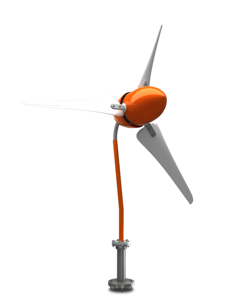 The Windleaf A Small Powerful And Reliable Wind Turbine Addition Power Plant Schematic Diagram In Homemade You Can Be Even More With Our Energize Your Independence