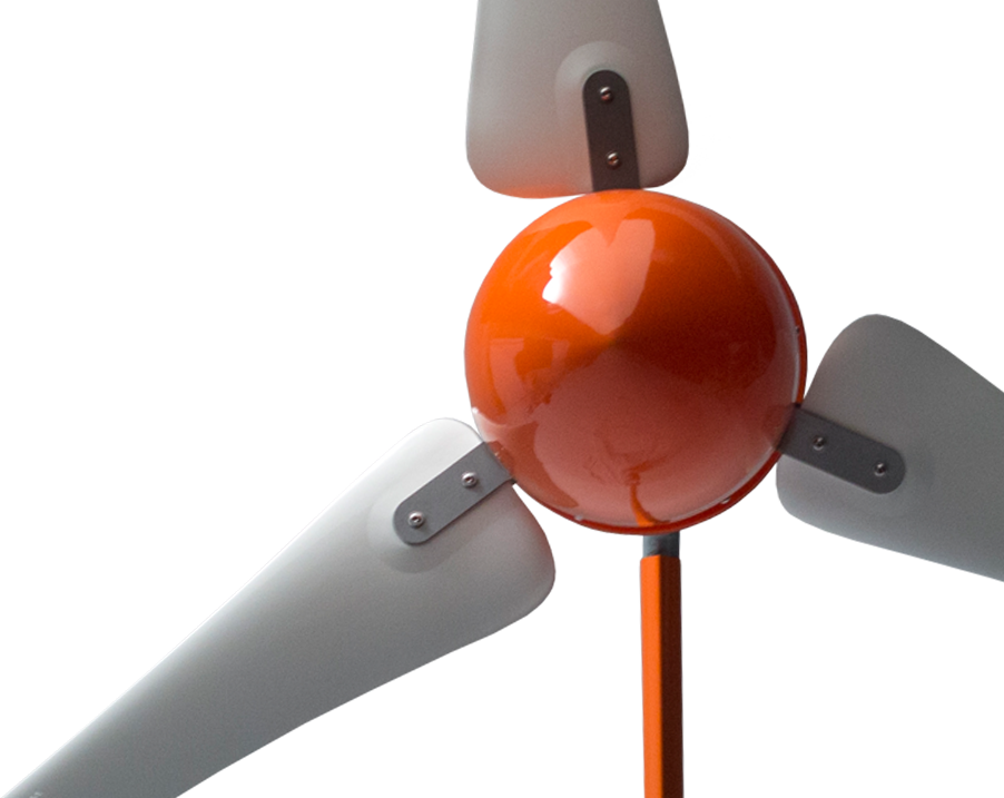 Detailed view of The Windleaf small wind turbine